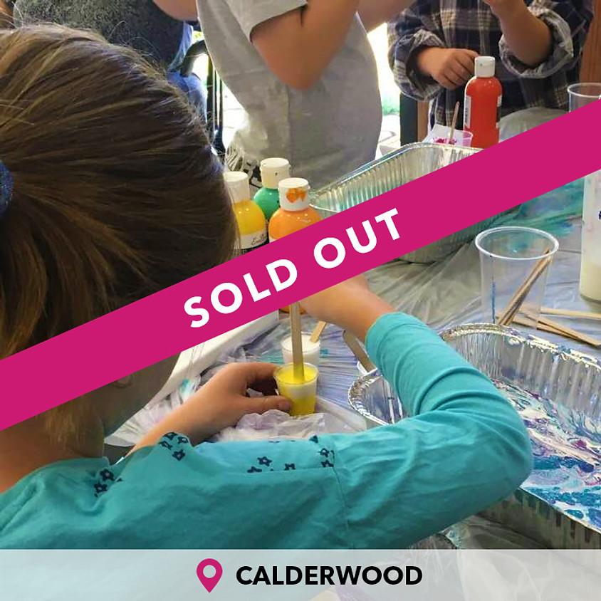 Kids Paint Pouring Calderwood