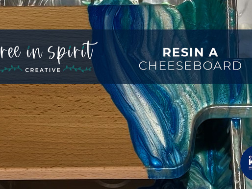 Teen Resin Art Cheeseboard Video Tutorial
