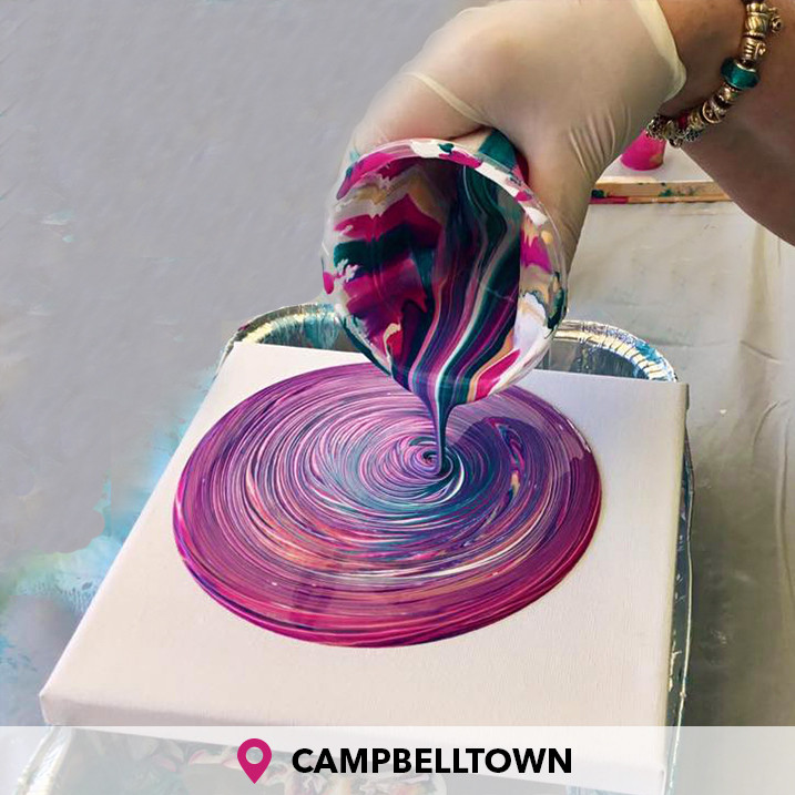 Introduction To Acrylic Pour Painting Campbelltown IV