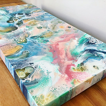 """Symphony"" Original Abstract Acrylic Fluid Canvas Art Painting"