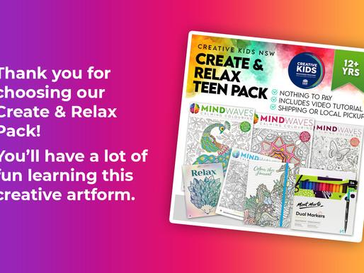 Create & Relax Art Pack Tutorial - Creative Kids NSW