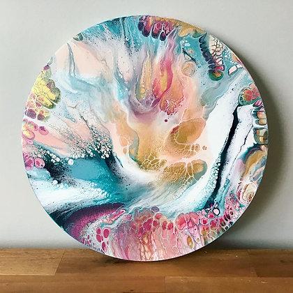 """Cherish"" Original Abstract Acrylic Fluid Canvas Art Painting"
