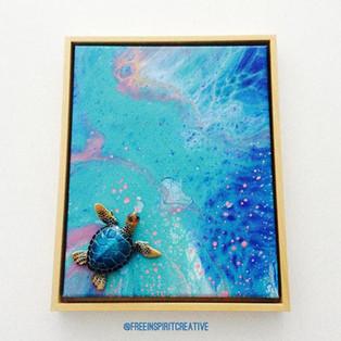 turtle-pond-original-abstract-pour-paint