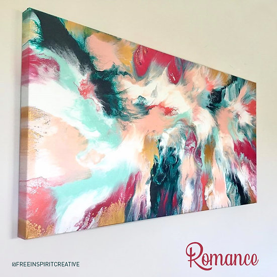 """Romance"" Original Abstract Acrylic Fluid Canvas Art Painting"