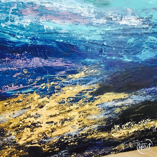 """Ocean Treasure"" Original Abstract Acrylic Plywood Painting"