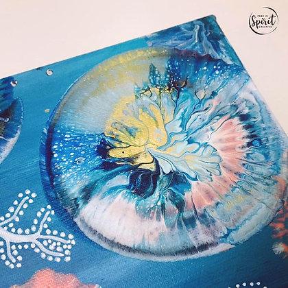 """Floral Bliss"" Original Abstract Acrylic Fluid Canvas Art Painting"