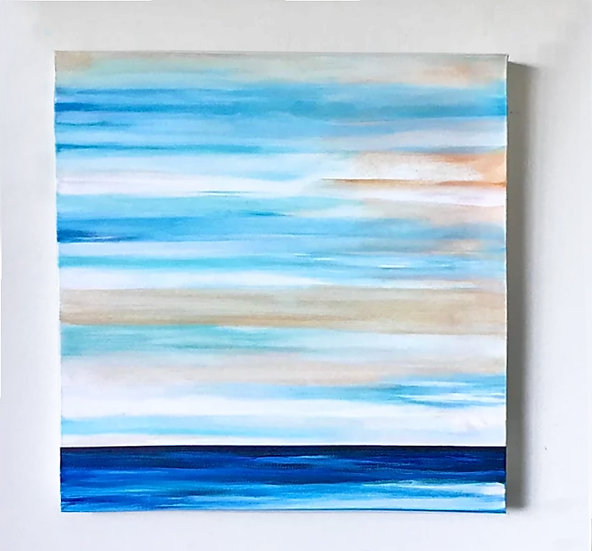 """""""A Day At The Beach"""" Original Abstract Acrylic Canvas Art Painting"""