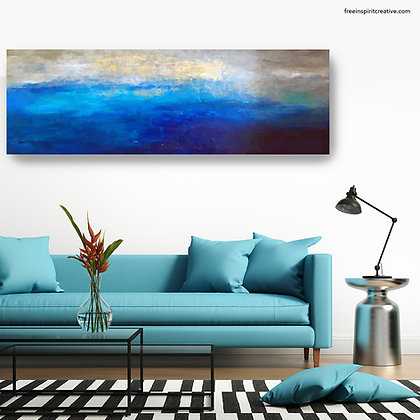 """""""Stormy Waters"""" Original Abstract Acrylic Canvas Art Painting"""