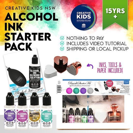 Teen Alcohol Ink Starter Pack - Creative Kids NSW