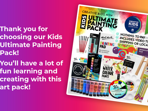 Kids Ultimate Painting Pack Tutorials - Creative Kids NSW