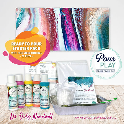 Premixed Paint Pouring Starter Packs - Ready To Pour