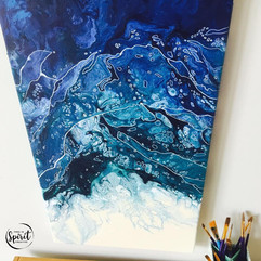 Cascades-Original_Abstract-Pour-Painting