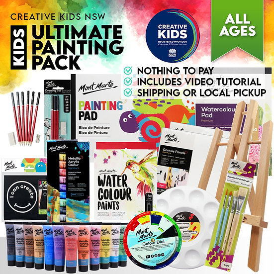 Kids Ultimate Painting Pack - Creative Kids NSW