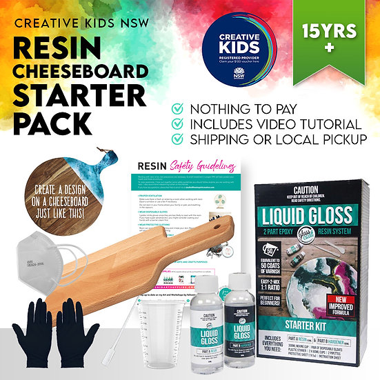 Teen Resin Cheeseboard Starter Kit - Creative Kids NSW