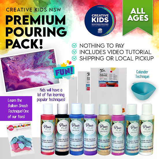 Premium Premixed Pouring Pack - Creative Kids NSW