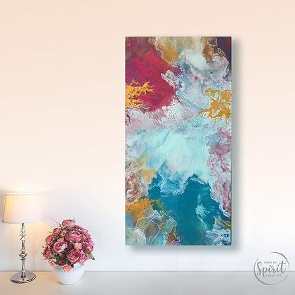 """Ebullience"" Original Abstract Acrylic Fluid Canvas Art Painting"