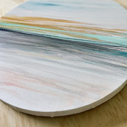 """""""Coastal Calm'"""" Original Abstract Acrylic Fluid Canvas Art Painting"""