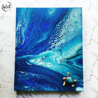 Turtle-Original_Abstract-Pour-Painting-K