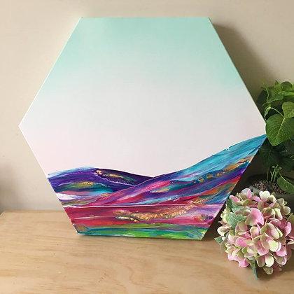 """Sea Of Colour"" Original Abstract Acrylic Fluid Canvas Art Painting"
