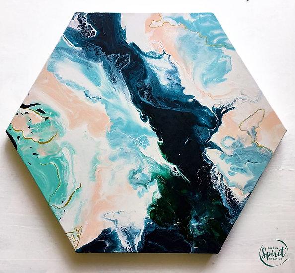 """Deja Vu"" Original Abstract Acrylic Fluid Canvas Art Painting"
