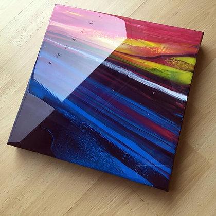 """Galaxy Dreaming"" Original Abstract Acrylic Fluid Canvas Art Painting"