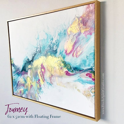 """Journey"" Original Abstract Acrylic Fluid Canvas Art Painting"