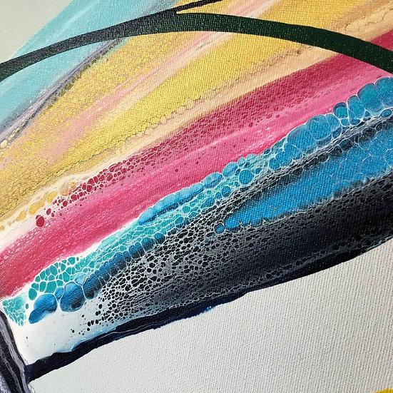 """Infinity"" Original Abstract Acrylic Fluid Canvas Art Painting"