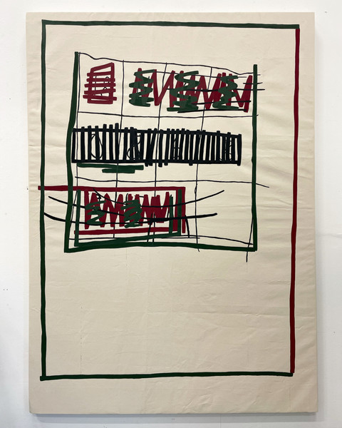 Redaction Square (Red and Green with Black