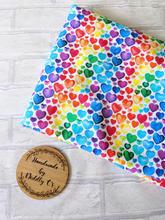 White Rainbow Hearts