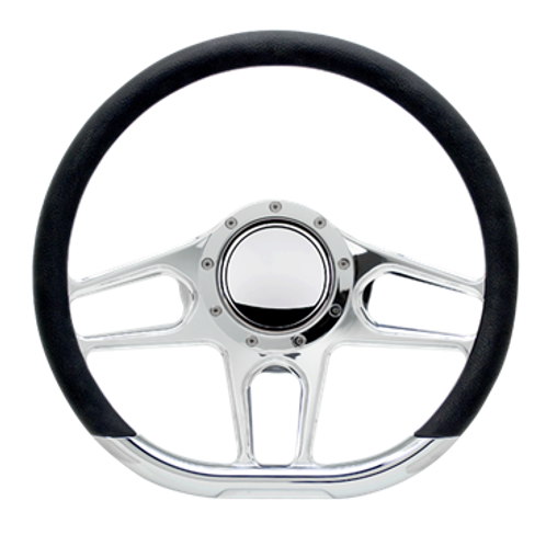 "Hairpin - 14"" D-Shape Steering Wheel"