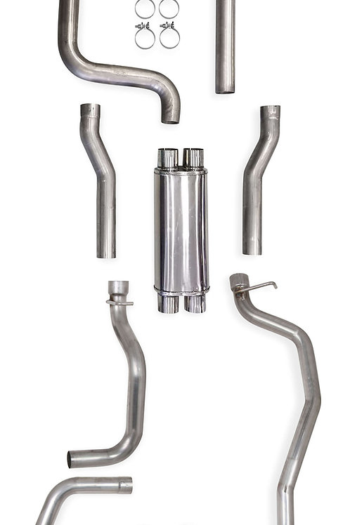 "1982-93 GM S-10/Sonoma 2WD LS Swap Exhaust System, Dual 3"" In/Dual 2.5"" Out"