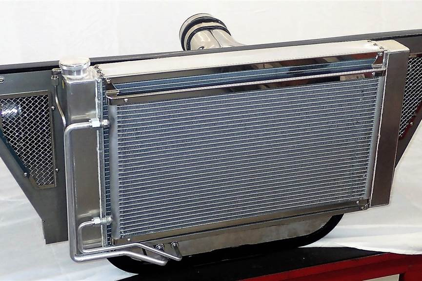 1955-1957 HRD Trifive Radiator with Air Intake system | hrd1