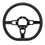 "Thumbnail: Hairpin - 14"" Black Anodized D-Shape Steering Wheel"