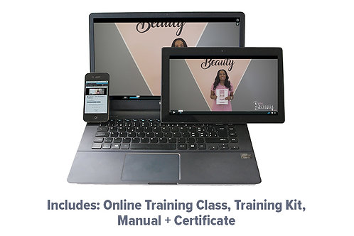 Classic Lash Extension Online Training, Manual, Kit + Certficate