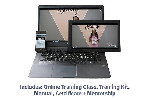 Classic Lash Extension Online Training, Manual, Kit, Certificate + Mentorship
