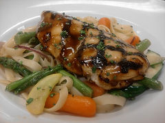 Ginger-lime glazed chicken with Pasta Pr