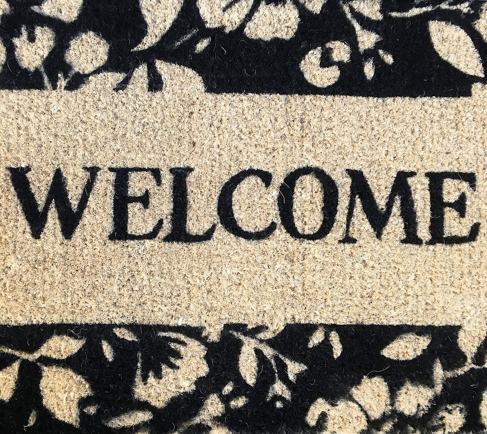 the Welcome mat!