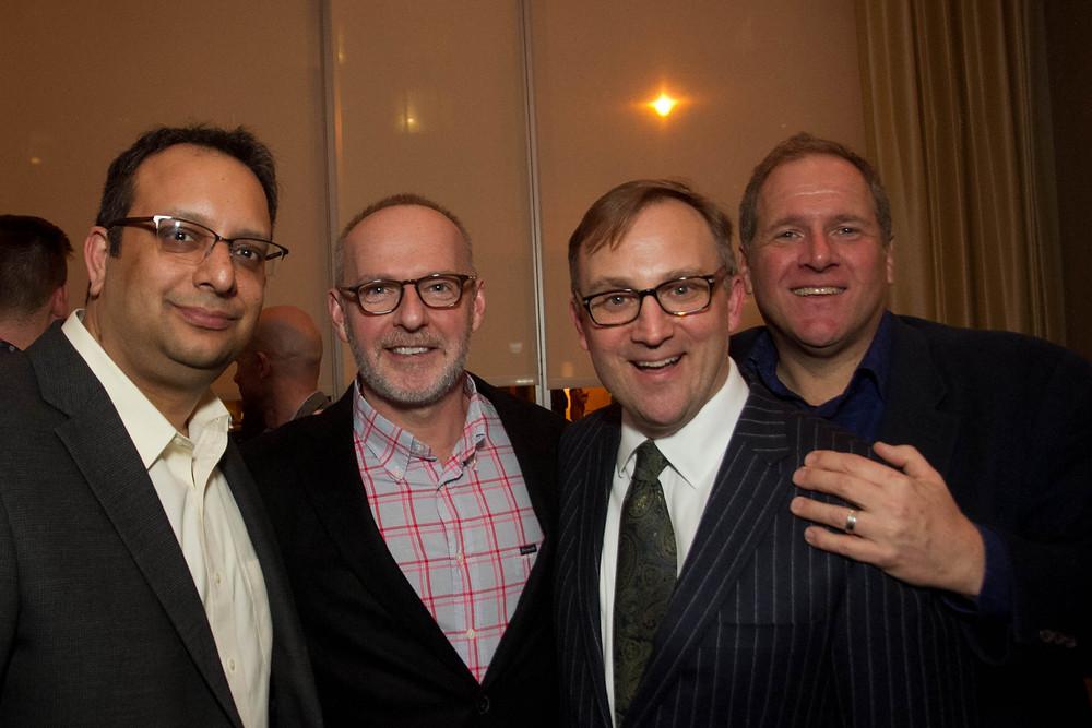 Arvind Manocha, Gideon Malone, Ben Finzel and Mark Pimble