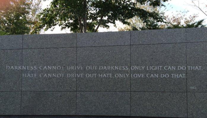 Inscription at the MLK, Jr. Memorial in Washington, D.C.