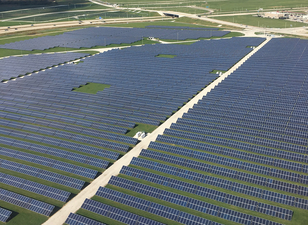 Solar installation at Indianapolis International Airport
