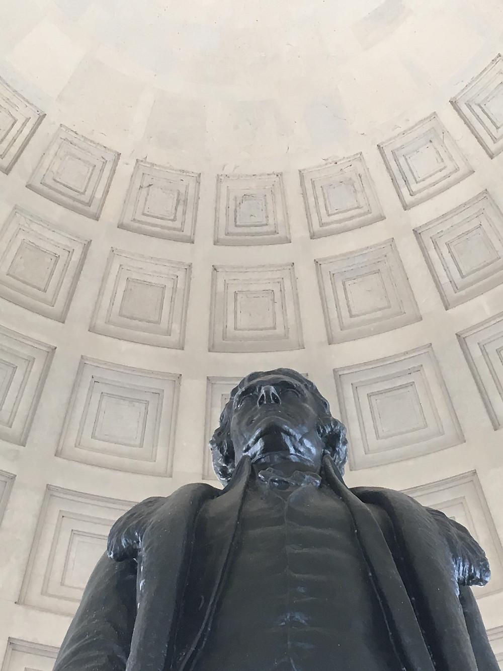 Thomas Jefferson statue at the Jefferson Memorial in Washington, D.C.
