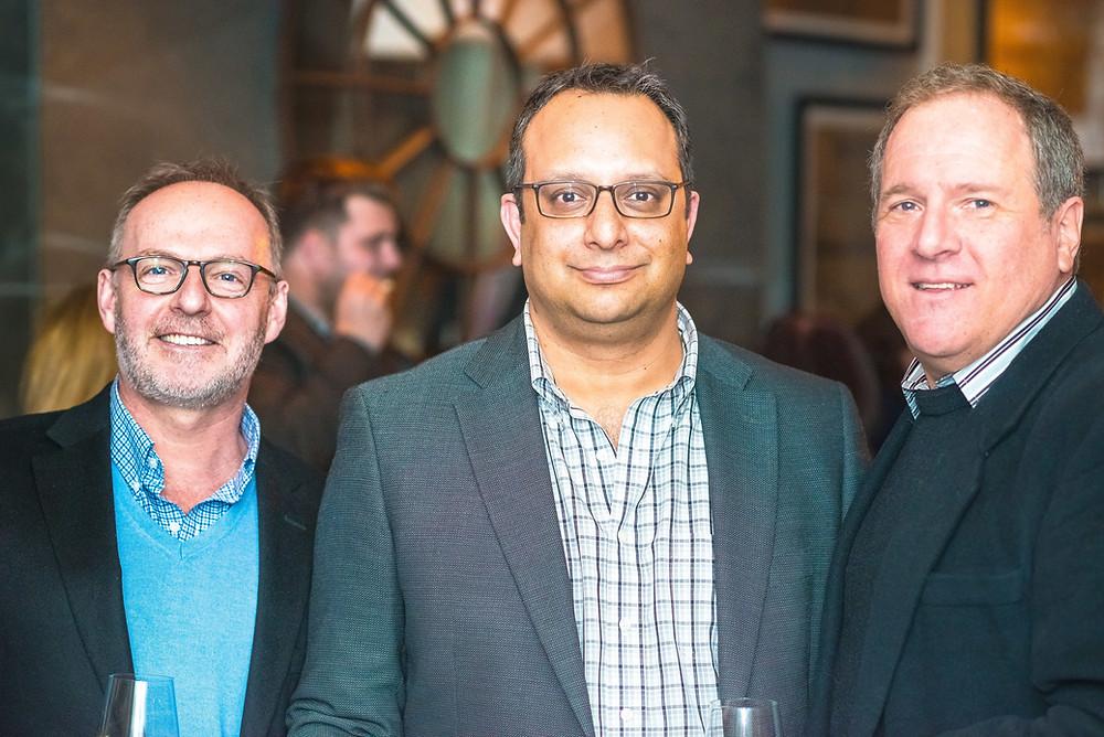 Gideon Malone, Arvind Manocha and Mark Pimble