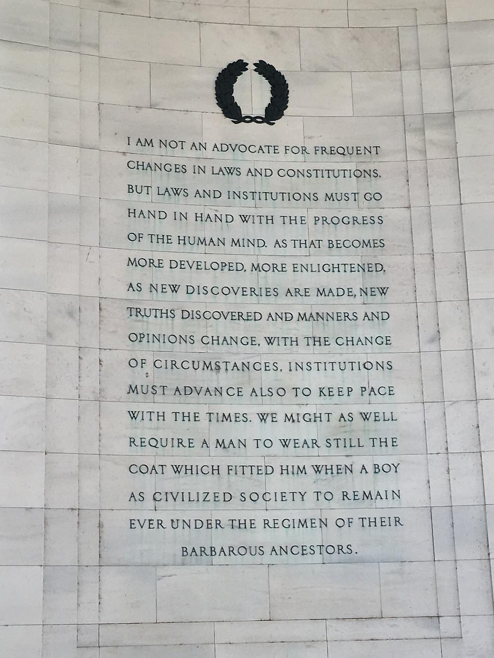 The Jefferson Memorial in Washington, D.C.