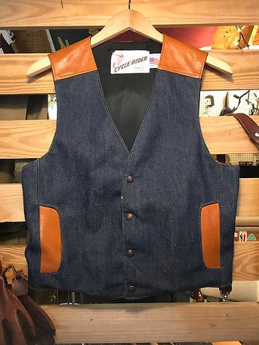 Vintage Schott Denim/Leather Vest
