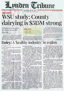 WSU study:  county dairying is $515M