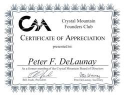 Crystal mt. Founders Club