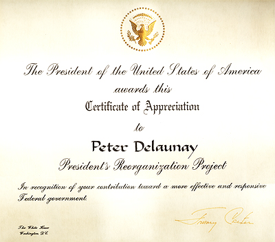 Appreciation from President