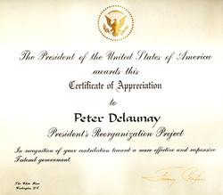 Appreciation from President