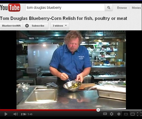 Tom Douglas' Blueberry Recipe