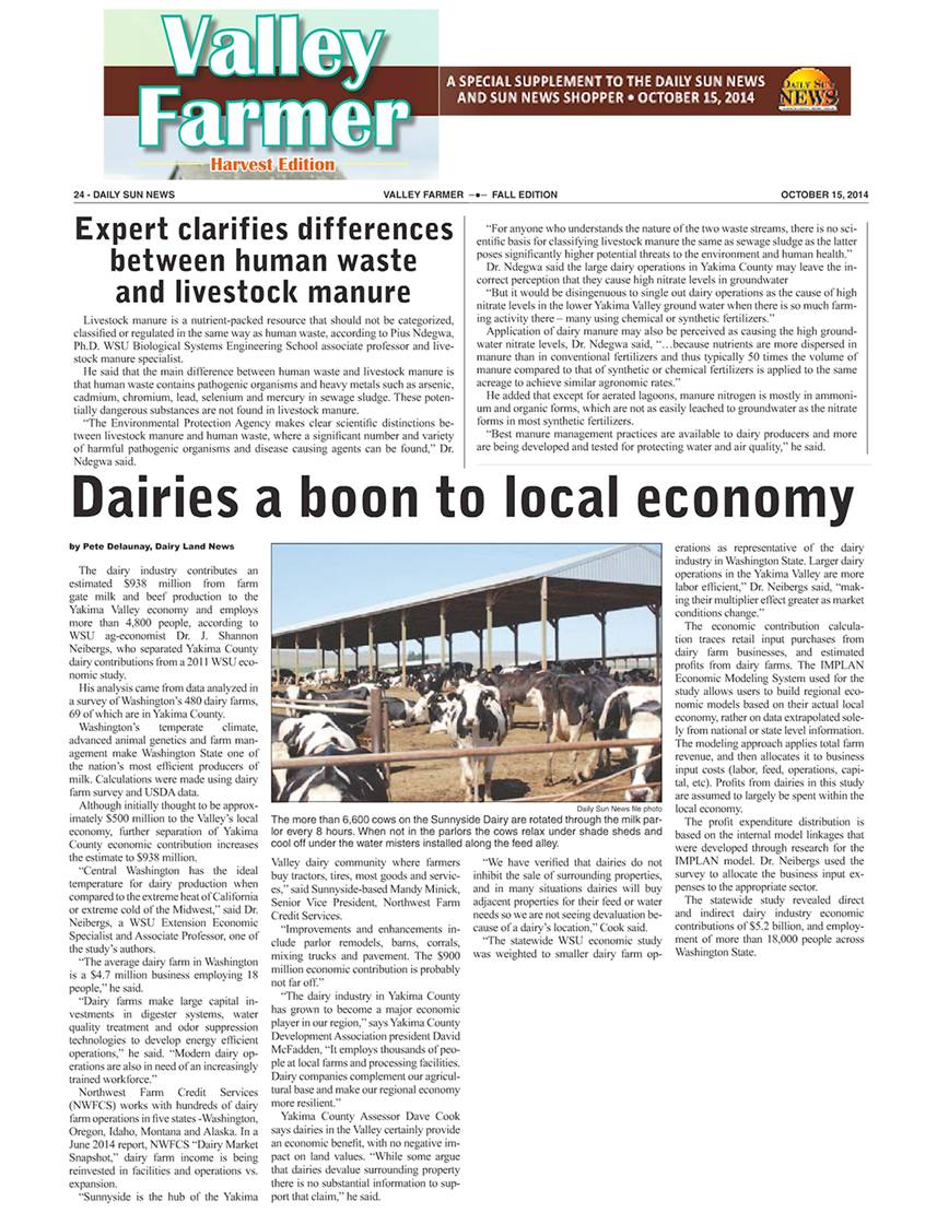 Dairies a boon to local economy